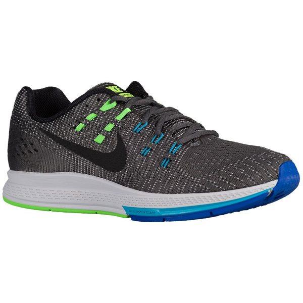 ナイキ メンズ スニーカー シューズ Men's Nike Air Zoom Structure 19 Dark Grey/Blue Lagoon/Volt/Black