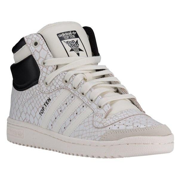 アディダス レディース バスケットボール スポーツ Women's adidas Top Ten Hi Off White/Off White/Black
