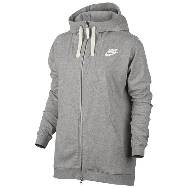 ナイキ レディース パーカ&スウェット アウター Women's Nike Gym Classic Full Zip Hoodie Dark Grey Heather