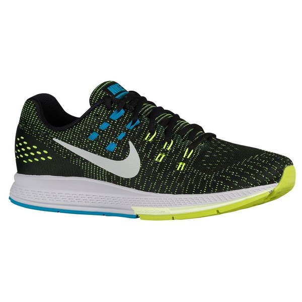 ナイキ メンズ スニーカー シューズ Men's Nike Air Zoom Structure 19 Black/Volt/Blue Lagoon/White