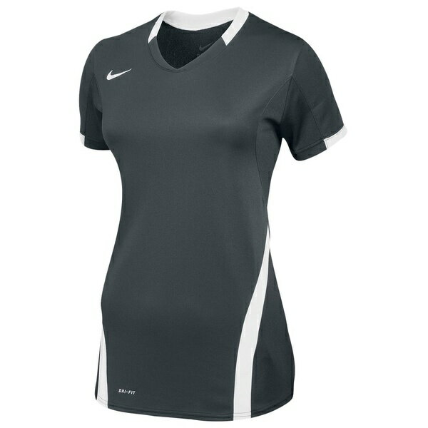 ナイキ レディース フィットネス スポーツ Women's Nike Team Ace S/S Game Jersey Anthracite/White