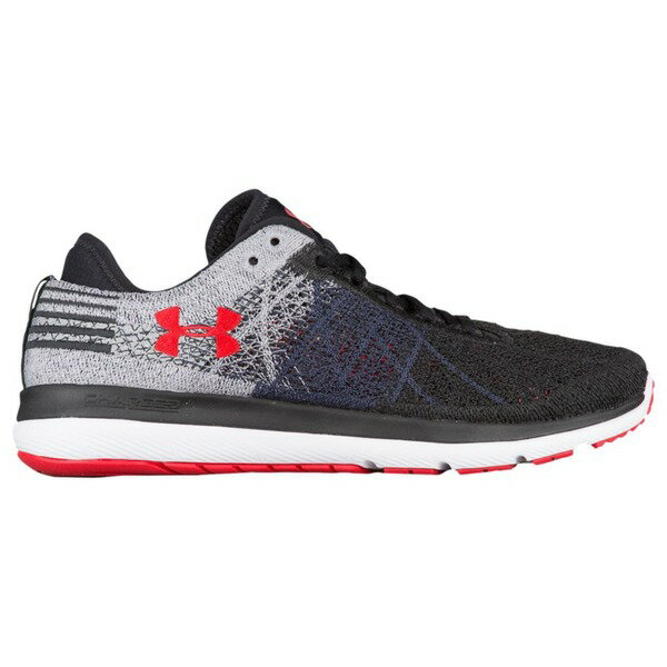 アンダーアーマー メンズ スニーカー シューズ Men's Under Armour Threadborne Fortis Black/Graphite/Red