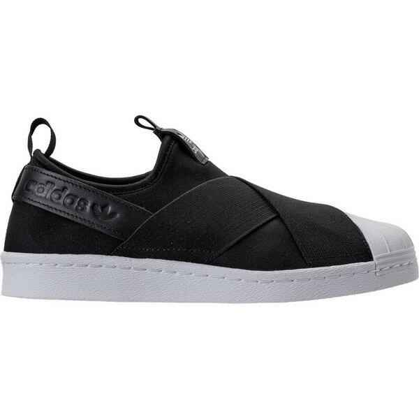 アディダス レディース スニーカー シューズ Women's adidas Originals Superstar Slip-On Casual Shoes Black/White