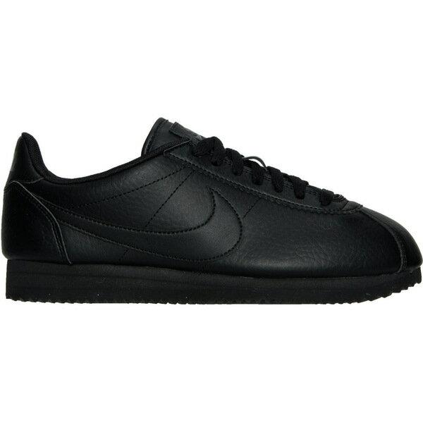 ナイキ レディース スニーカー シューズ Women's Nike Classic Cortez Leather Casual Shoes Black/Black/Black