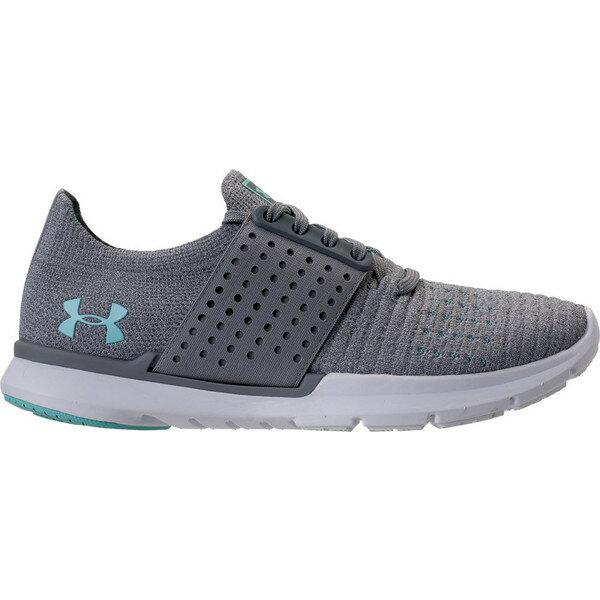アンダーアーマー レディース スニーカー シューズ Women's Under Armour Threadborne Slingwrap Running Shoes Glacier Grey/Steel/Blue Infinity