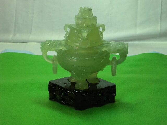玉石彫刻透かし香炉