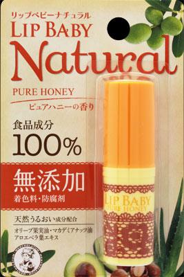 【240個で送料無料】メンソレータム リップベビー ナチュラル ( ピュアハニーの香り ) 4g  ( 化粧品・リップクリーム・スキンケア ) ×240点セット ( 4987241143986 )
