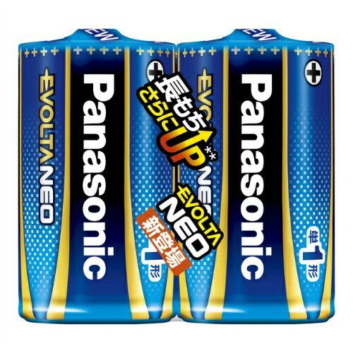 【送料無料・まとめ買い×50】パナソニック アルカリ乾電池 エボルタネオ 単一型×2本パック ×50点セット LR20NJ/2SE エボルタネオ 単1形 2本 シュリンクパック (4549077898517)