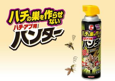 【10点セットで送料無料】大日本除虫菊 ハチの巣を作らせない ハチ・アブ用ハンター 屋外専用 510ml 直撃殺虫効果に「巣を作らせない」予防効果をプラス ×10点セット ★まとめ買い特価! ( 4987115521926 )