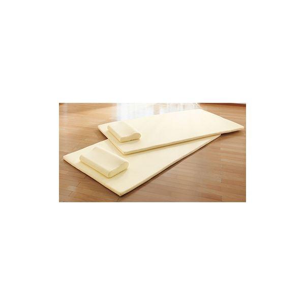 高反発マットレス&枕セット 【4: ダブルサイズ2点セット(マット1枚・枕1個)】 洗えるカバー付き