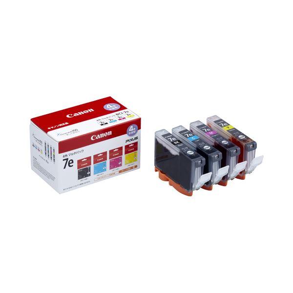 (まとめ) キヤノン Canon インクタンク BCI-7e/4MP 4色マルチパック 1018B001 1箱(4個:各色1個) 【×3セット】