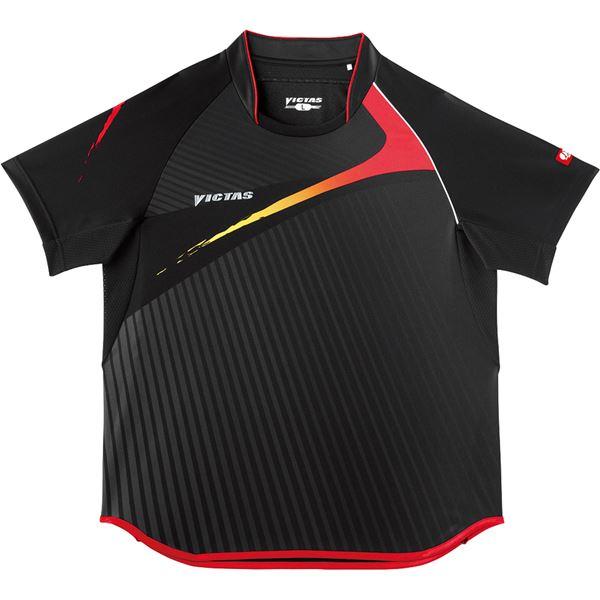 ヤマト卓球 VICTAS(ヴィクタス) 卓球アパレル V-SW025 Viscotecs ゲームシャツ(男女兼用) 031455 ブラック Sサイズ
