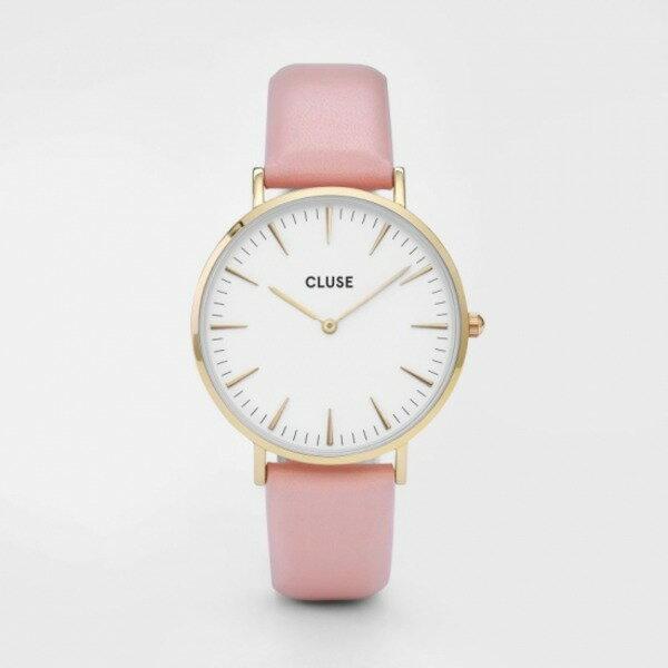 CLUSE(クルース)LA BOHEME GOLD - 38 mm White/Pink