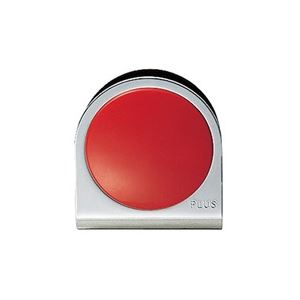 (業務用100セット) プラス カラーマグネット クリップ 小 赤