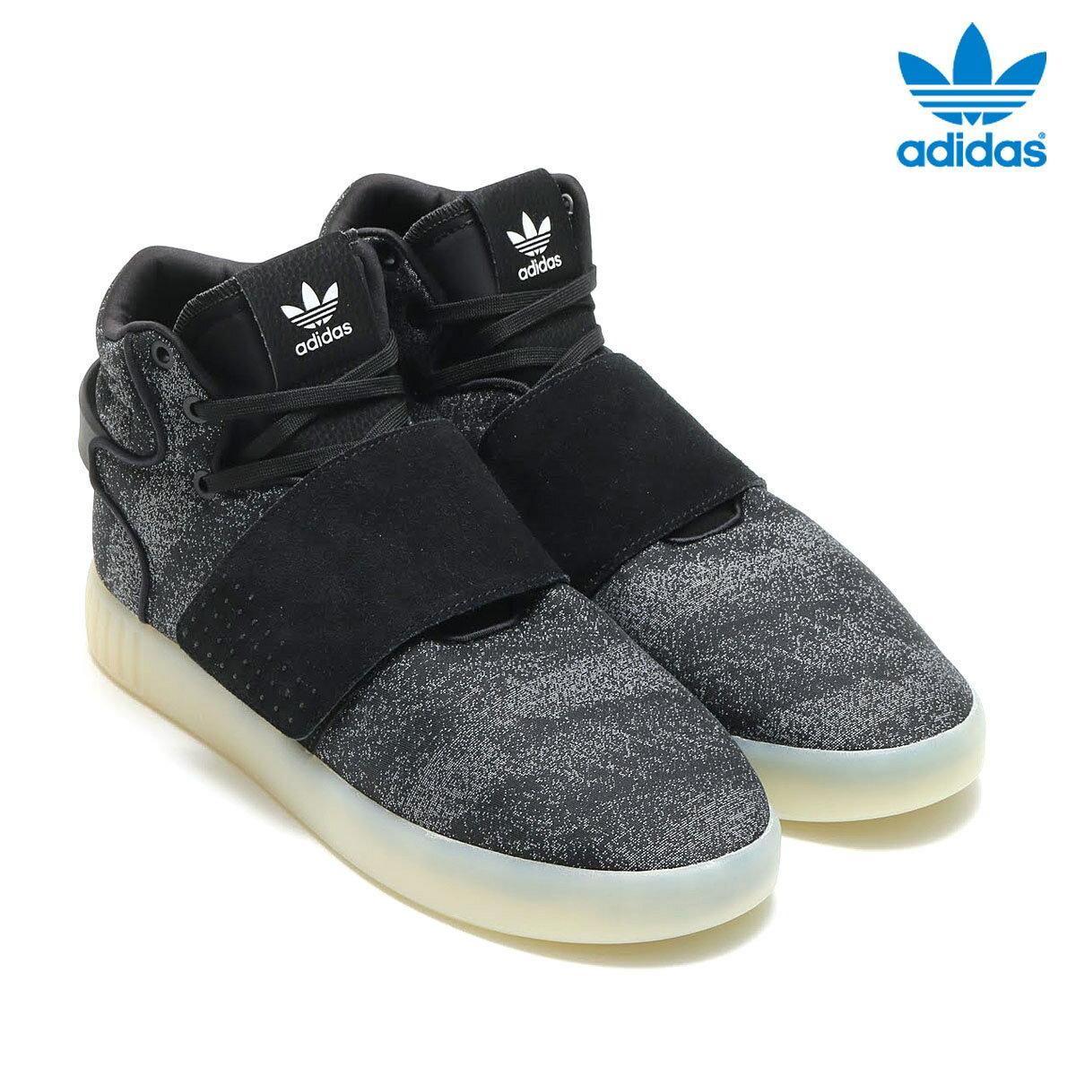 adidas Originals TUBULAR INVADER STRAP JC(アディダス オリジナルス チューブラー インベイダー ストラップ JC)(Core Black/Core Black/Crystal White) 【メンズサイズ】17SS-I