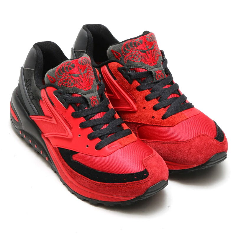 BROOKS MEN BEAST 24K (ブルックス メン ビースト 24K) (High Risk Red/Black)【メンズ レディース スニーカー】16SS-I