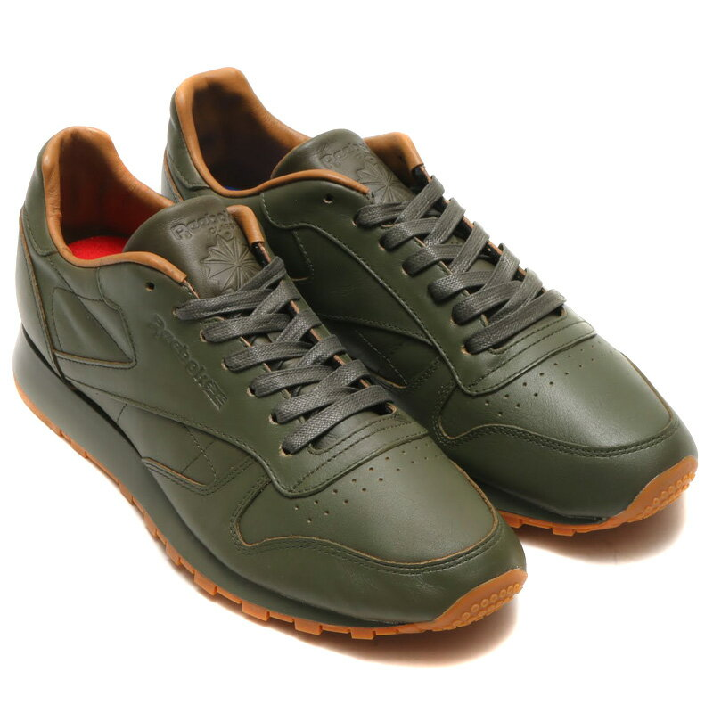 Reebok CL LEATHER LUX KL(リーボック CLレザー LUX KL)OLIVE NIGHT GUM【メンズ スニーカー】16FW-S