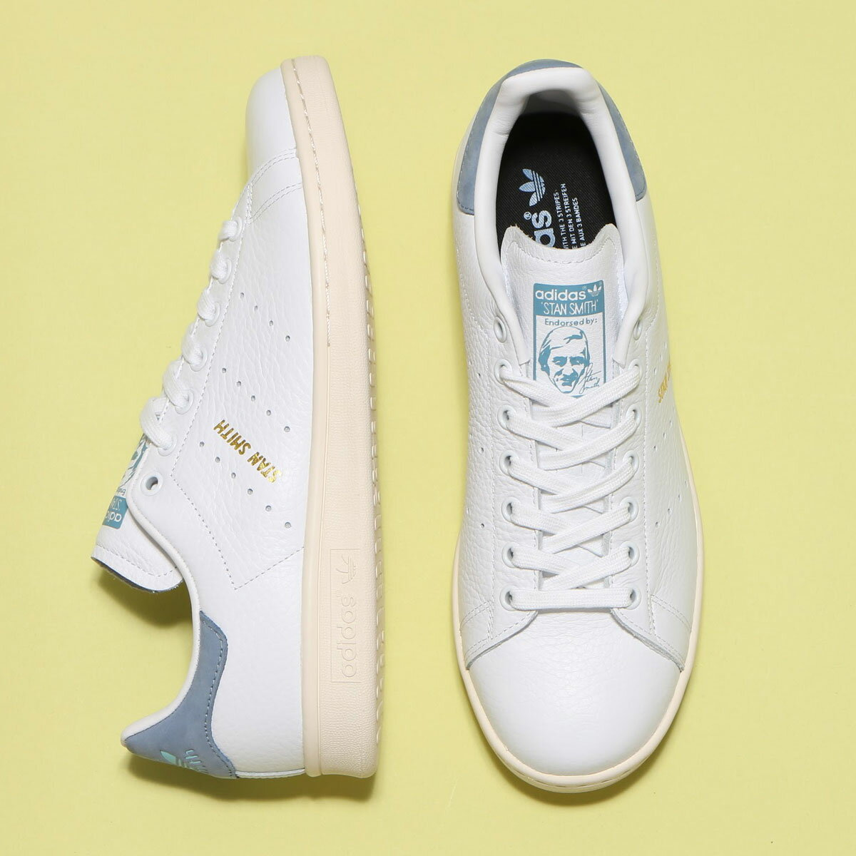 adidas Original STAN SMITH (アディダス オリジナルス スタン スミス) RUNNING WHITE / RUNNING WHITE / TACTILE BLUE【メンズ レディース スニーカー】17FW-S
