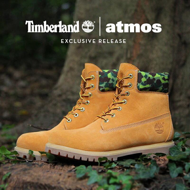 Timberland | atmos 6 PREMIUM WATERPROOF BOOT(ティンバーランド | アトモス 6インチ プレミアム ブーツ)WHEAT CAMO15FW-S