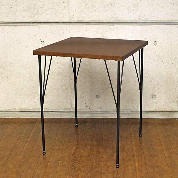 Dining Table ダイニングテーブル アイアン 小さい コンパクト 60cm ヴィンテージ カフェテーブル 60 食卓テーブル 2人用 おしゃれ 2人 木目 レトロ アンティーク 単品 正方形 二人 二人用 モダン ダイニング アンティーク調 カフェ風 テーブル 一人暮らし 1人 送料無料