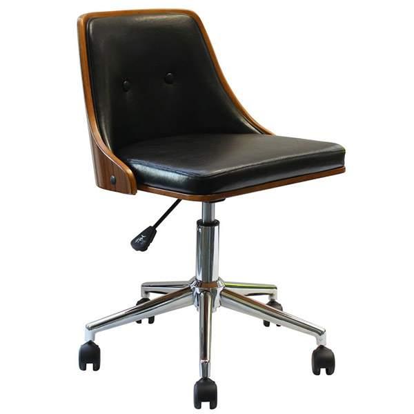 キャスター付き椅子 学習チェア オフィスチェア 北欧 パソコンチェア 木製 おしゃれ ミッドセンチュリー HA-012 Steedチェアー ブラウン 合成皮革 デスクチェア 椅子 一人掛け ブラウン アンティーク ナチュラル 木製 レトロ