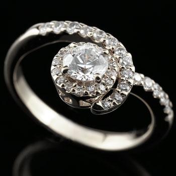 【送料無料】鑑定書付 婚約指輪 エンゲージリング ダイヤモンド ホワイトゴールドk18 ダイヤ 18金 ストレート レディース ブライダルジュエリー ウエディング 贈り物 誕生日プレゼント ギフト