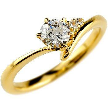 【送料無料】鑑定書付き 婚約指輪 エンゲージリング ダイヤモンド リング 一粒 大粒 VS イエローゴールドK18 18金 ダイヤ ストレート 2.3 贈り物 誕生日プレゼント ギフト
