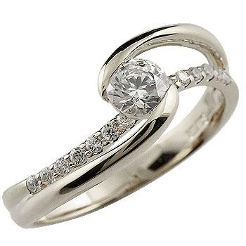 【送料無料】鑑定書付き 婚約指輪 エンゲージリング ダイヤモンド リング 指輪 ホワイトゴールドk18 大粒 ダイヤ SIクラス 18金 ストレート レディース ブライダルジュエリー ウエディング 贈り物 誕生日プレゼント ギフト