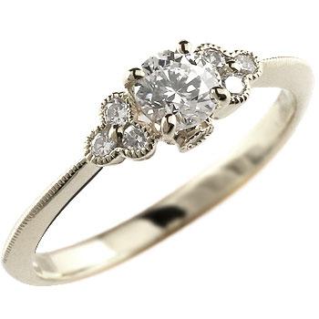 【送料無料】鑑定書付き 婚約指輪 エンゲージリング ダイヤモンド リング 指輪 ホワイトゴールドk18 大粒 ダイヤ VSクラス ミル打ち 18金 ストレート レディース ブライダルジュエリー ウエディング 贈り物 誕生日プレゼント ギフト