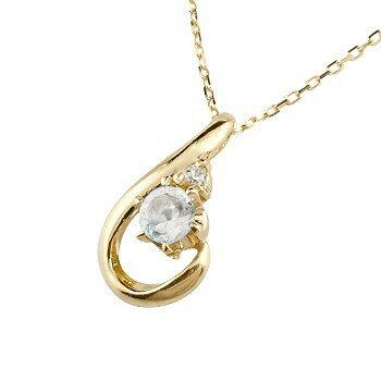 【送料無料】ブルームーンストーン イエローゴールド ネックレス ダイヤモンド ペンダント ドロップ型 チェーン 人気 6月誕生石 k18 贈り物 誕生日プレゼント ギフト