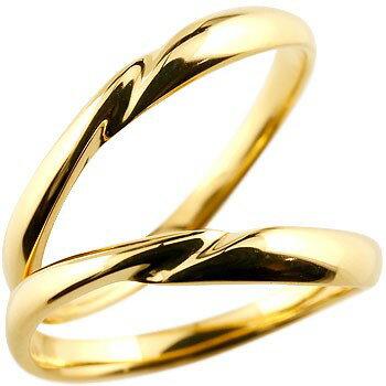 【送料無料】 ペアリング 人気 結婚指輪 マリッジリング イエローゴールドk18 18金 地金リング 結婚式 シンプル 宝石なし ストレート カップル ブライダルジュエリー ウエディング 贈り物 誕生日プレゼント ギフト