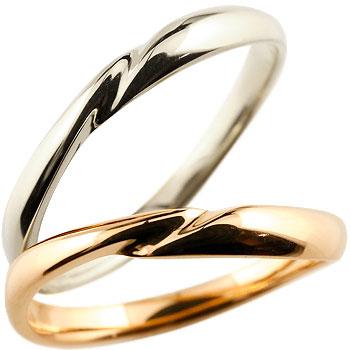 【送料無料】 ペアリング 人気 結婚指輪 マリッジリング ホワイトゴールドk18 ピンクゴールドk18 18金 地金リング 結婚式 シンプル 宝石なし ストレート カップル ブライダルジュエリー ウエディング 贈り物 誕生日プレゼント ギフト