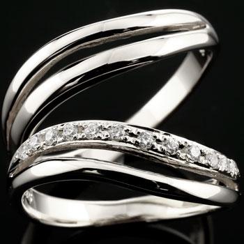 【送料無料】ペアリング ダイヤモンド エタニティリング 2本セット ダイヤモンドリング 結婚指輪 ホワイトゴールドk18  指輪 マリッジリング 結婚式 18金 ダイヤ カップル 贈り物 誕生日プレゼント ギフト