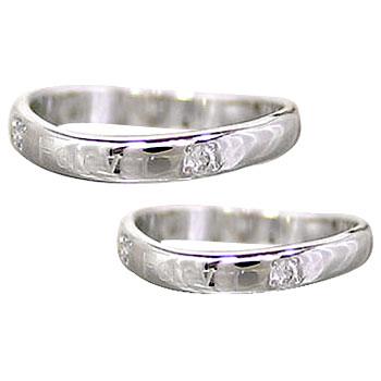【送料無料】ペアリング ホワイトゴールドk18 ダイヤ ダイヤモンド 結婚指輪 マリッジリング 結婚式 18金 ダイヤ ストレート カップル 贈り物 誕生日プレゼント ギフト
