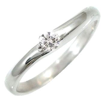 【送料無料】指輪 ピンキーリング ダイヤモンドリング ダイヤモンド 0.1ct ホワイトゴールドk18 ダイヤ 18金 4月誕生石 ストレート 贈り物 誕生日プレゼント ギフト