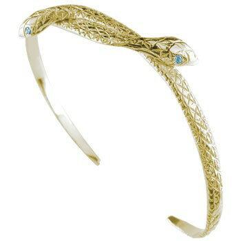 【送料無料】バングル ブレスレット 蛇 イエローゴールドk18 18金 贈り物 誕生日プレゼント ギフト