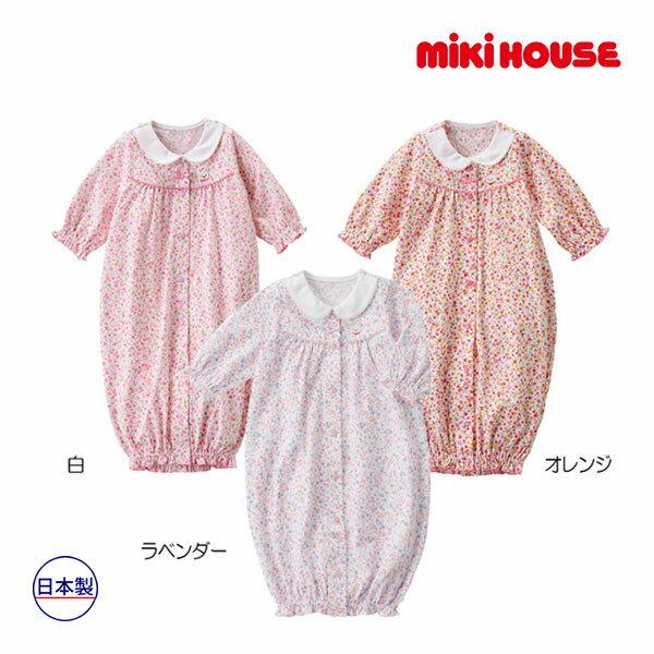 ミキハウス【MIKI HOUSE】(ベビー)小花柄♪ツーウェイオール(50cm-60cm)