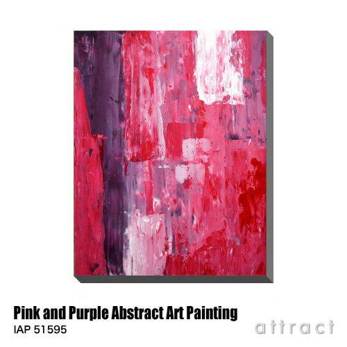 アートパネル Art Panel Pink and Purple Abstract Art Painting W600×H800mm IAP 51595 T30 Gallery アートポスター キャンバス MDF インテリア 壁掛け アクリル 油絵具 壁面 デザイン リビング 抽象画 フレーム 【RCP】【smtb-KD】