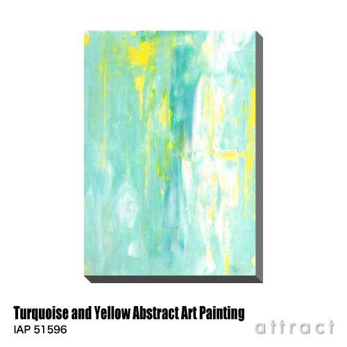 アートパネル Art Panel Turquoise and Yellow Abstract Art Painting W600×H800mm IAP 51596 T30 Gallery アートポスター キャンバス MDF インテリア 壁掛け アクリル 油絵具 壁面 デザイン リビング 抽象画 フレーム 【RCP】【smtb-KD】