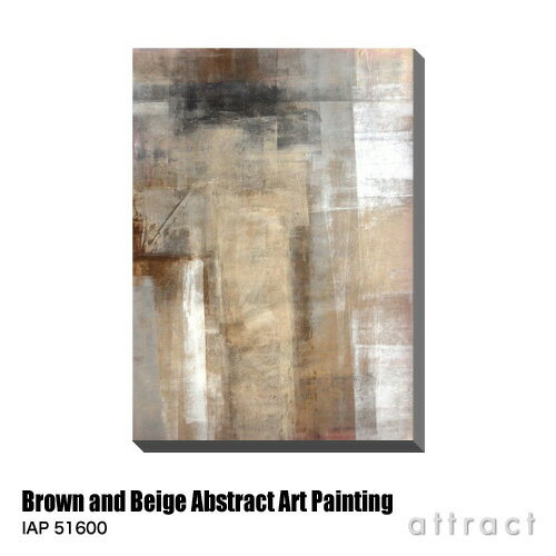 アートパネル Art Panel Brown and Beige Abstract Art Painting W560×H800mm IAP 51600 T30 Gallery アートポスター キャンバス MDF インテリア 壁掛け アクリル 油絵具 壁面 デザイン リビング 抽象画 フレーム 【RCP】【smtb-KD】