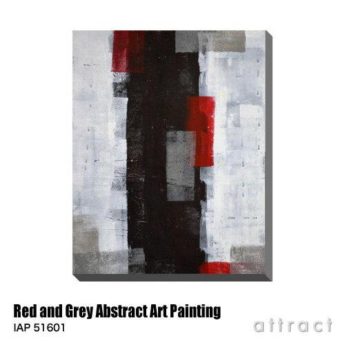 アートパネル Art Panel Red and Grey Abstract Art Painting W600×H800mm IAP 51601 T30 Gallery アートポスター キャンバス MDF インテリア 壁掛け アクリル 油絵具 壁面 デザイン リビング 抽象画 フレーム 【RCP】【smtb-KD】
