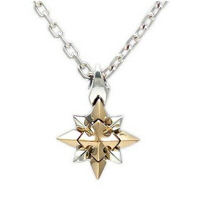 【送料無料】シルバーペンダントネックレス雪の結晶シルバー×ゴールドペンダント ダグダートDT-232G~Shining Crystal~