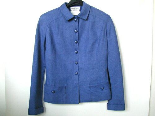 ヴァレンティノガラヴァーニ スーツ 【本物★美品】 綺麗な青の麻100%素材 【中古】