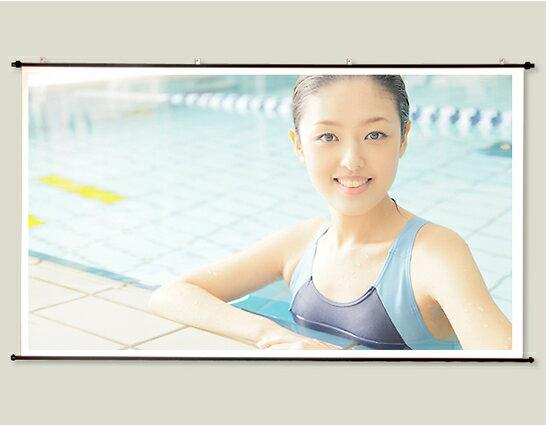プロジェクタースクリーン110インチ (16:9)タペストリー式2.2倍明るいトップクラスのガラスビーズを使用したマイクロビーズスクリーン日本製