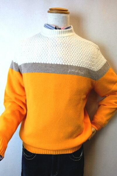 【カステルバジャック】【CASTELBAJAC】【カシミヤセーター】【秋冬アウトレットセール50%OFF】【メンズ】【メンズファッション】【カステルバジャック服】 カシミヤ100%セーター オレンジ 10P03Dec16