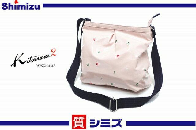 【キタムラ】未使用品 K2 ショルダーバッグ 合皮エナメル ピンク 【中古】