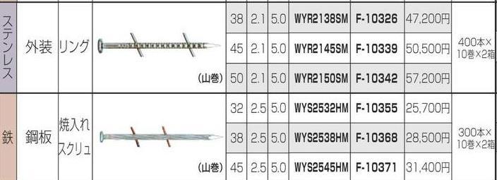 [税込新品]マキタ エア タッカー用 ワイヤ釘 WYS2538HM F-10368 エア釘 ワイヤー釘