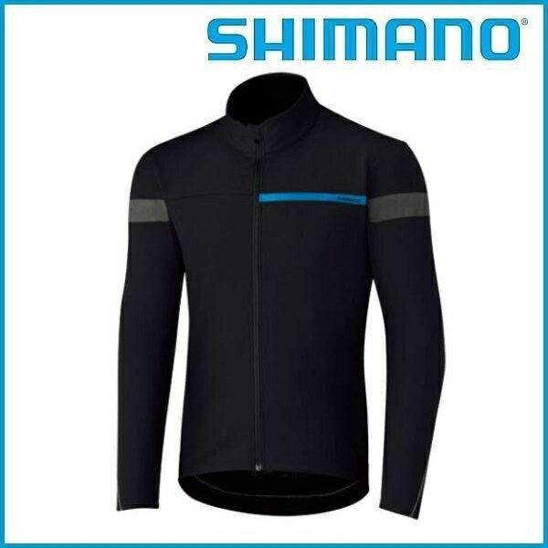 SHIMANO ウインドブレーク ジャージ (ブラック) シマノ メンズ サイクル ウェア Mens