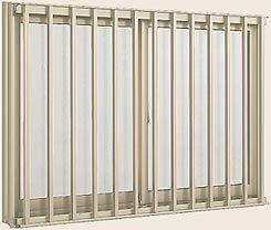 アルミサッシ デュオPG 縦格子付サッシ 半外付型 呼称18613【LIXIL】【リクシル】【トステム】【引違い窓】【引き違い窓】【マド】【ガラス窓】【ペアガラス】