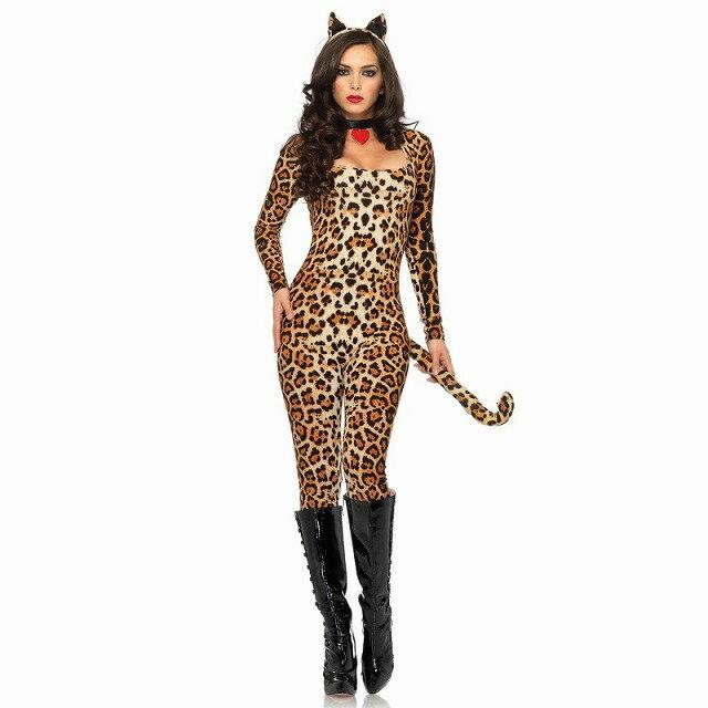 動物 大人女性用コスチューム 3PC.Cougar